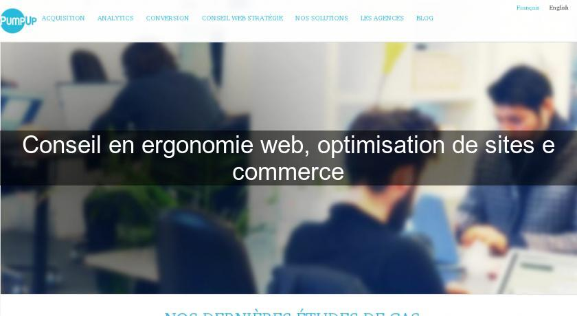 Conseil en ergonomie web, optimisation de sites e commerce