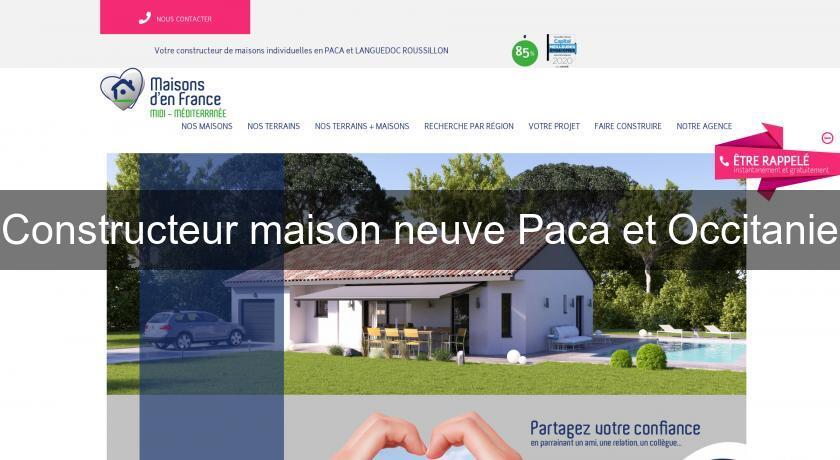 constructeur maison neuve paca et occitanie construction maison. Black Bedroom Furniture Sets. Home Design Ideas