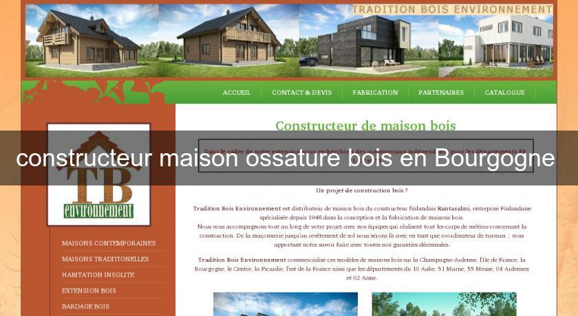 constructeur maison ossature bois bourgogne ventana blog. Black Bedroom Furniture Sets. Home Design Ideas