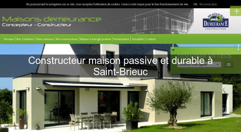Constructeur maison passive et durable saint brieuc for Constructeur maison passive