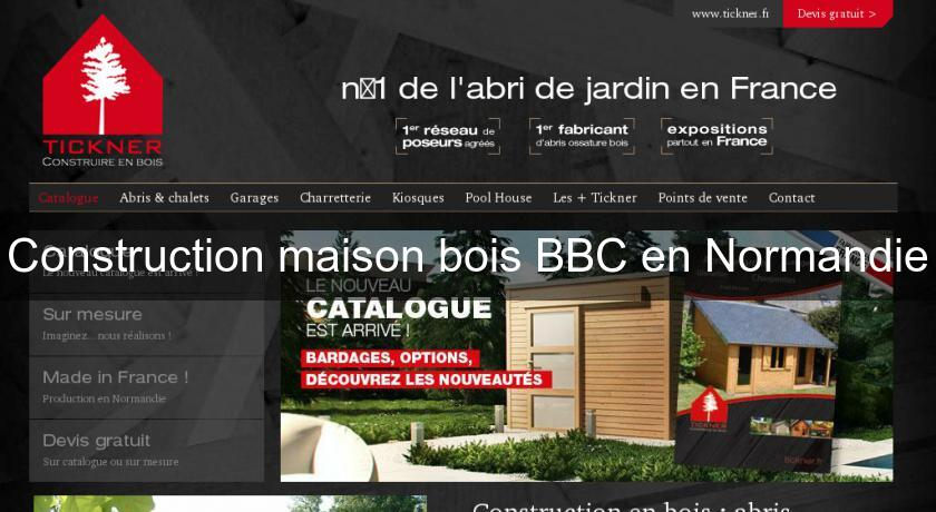 Construction maison bois BBC en Normandie