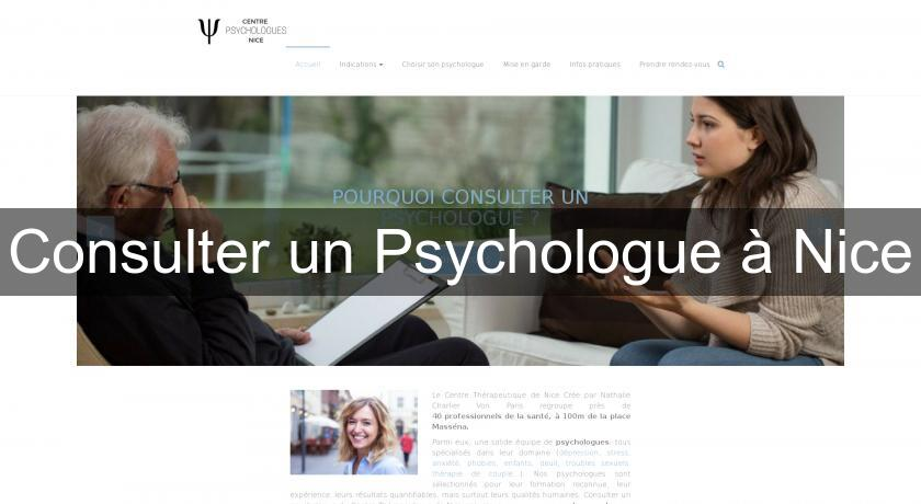 Consulter un Psychologue à Nice