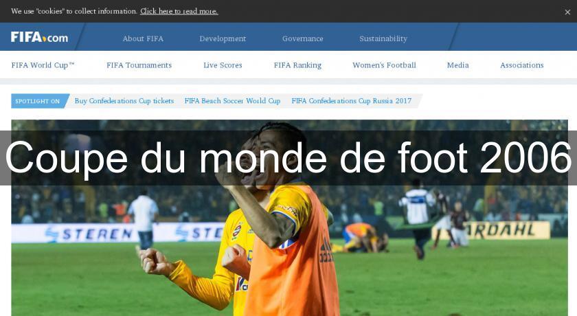 Coupe Du Monde De Foot 2006 Tournois