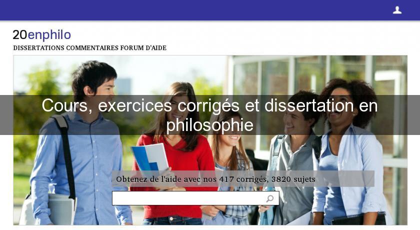 Corriges dissertation