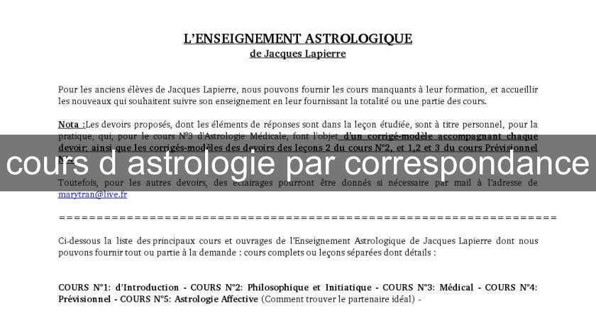 cours d 39 astrologie par correspondance astrologie. Black Bedroom Furniture Sets. Home Design Ideas