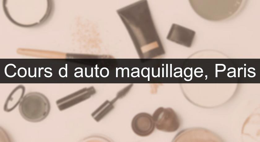 Cours d'auto maquillage, Paris