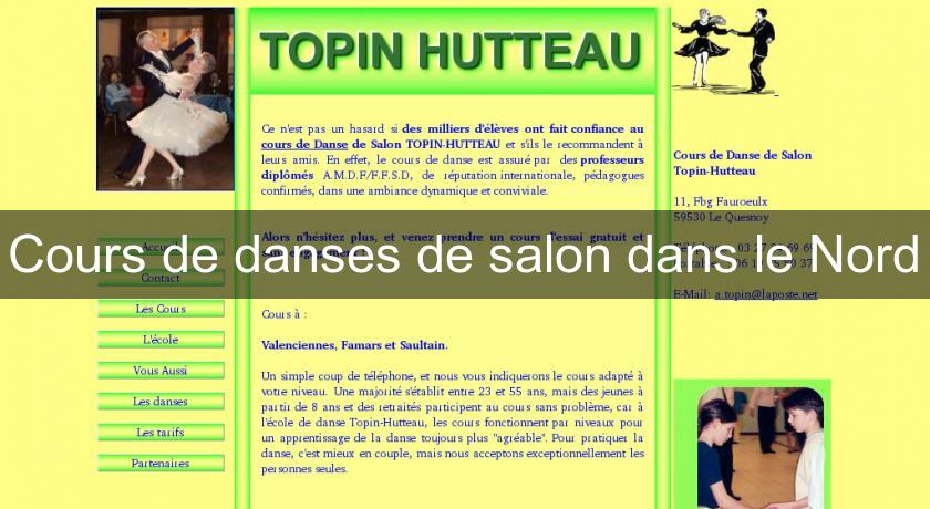 Cours de danses de salon dans le nord cours artistique for Ecole de danse de salon