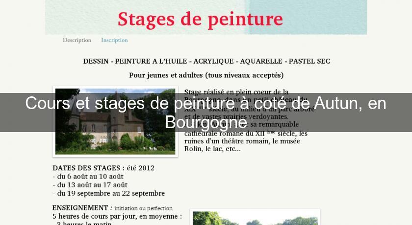 Cours Et Stages De Peinture A Cote De Autun En Bourgogne Cours De Peinture