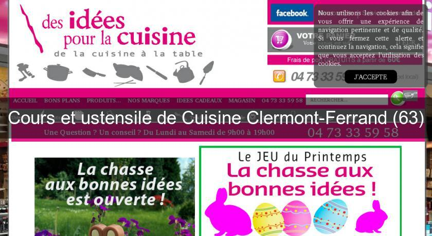 cours et ustensile de cuisine clermont ferrand 63 cours de cuisine. Black Bedroom Furniture Sets. Home Design Ideas