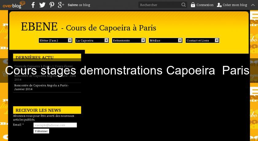 Cours stages demonstrations Capoeira  Paris