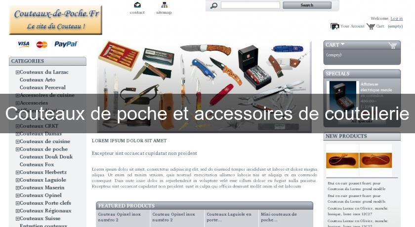Couteaux de poche et accessoires de coutellerie accessoire for Site accessoire cuisine