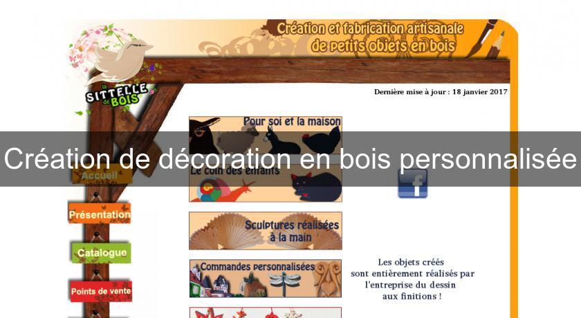 Cr ation de d coration en bois personnalis e objet d coration for Annuaire decoration