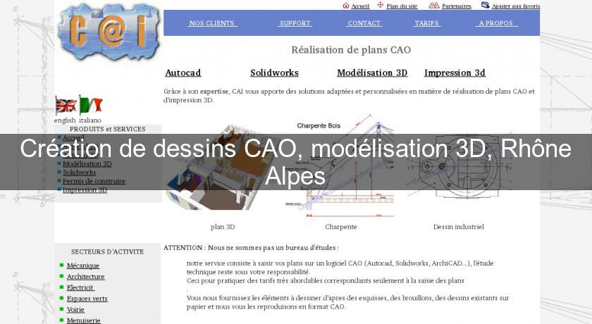 Cr Ation De Dessins Cao Mod Lisation 3d Rh Ne Alpes