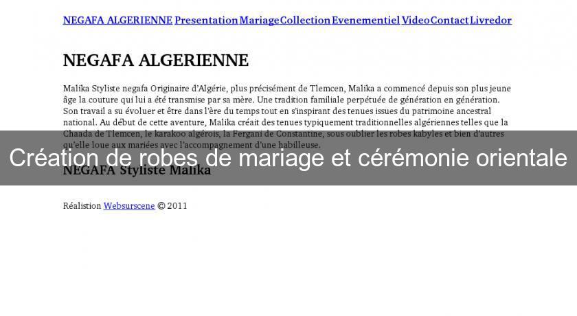 Cr ation de robes de mariage et c r monie orientale haute for Robe de mariage conception de jeux en ligne gratuit