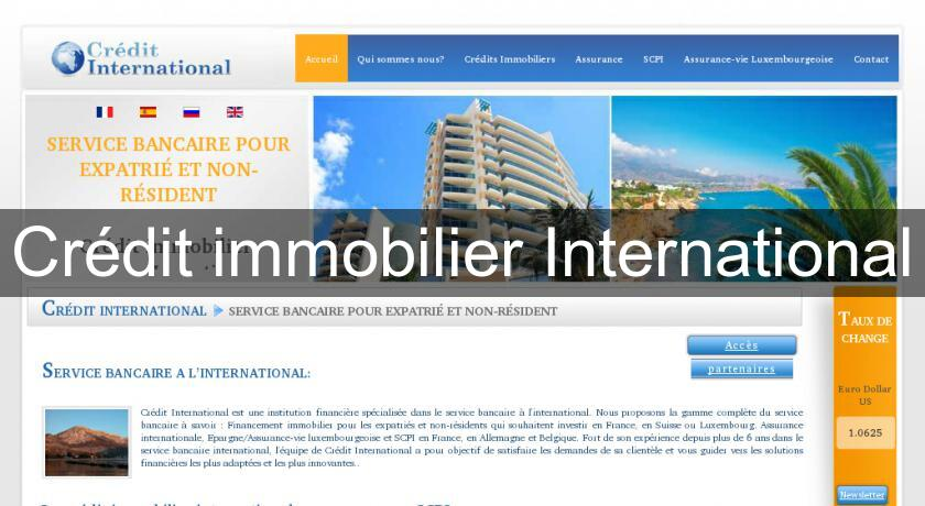 credit immobilier international