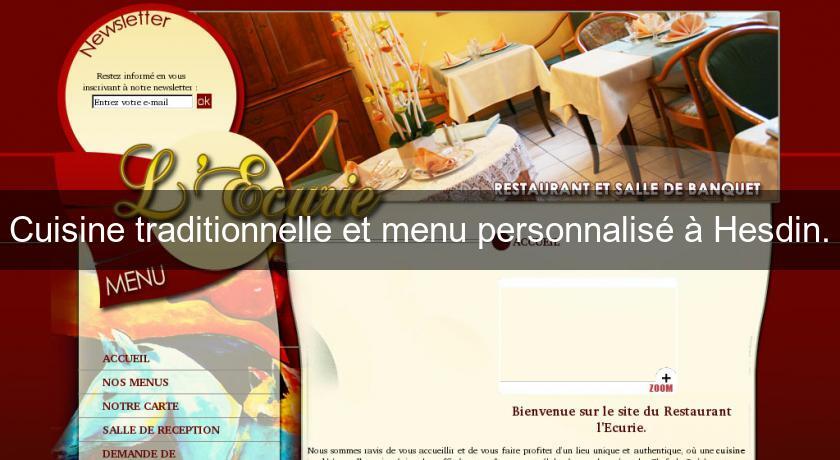 Cuisine Traditionnelle Et Menu Personnalisé à Hesdin. Restaurant  Gastronomique