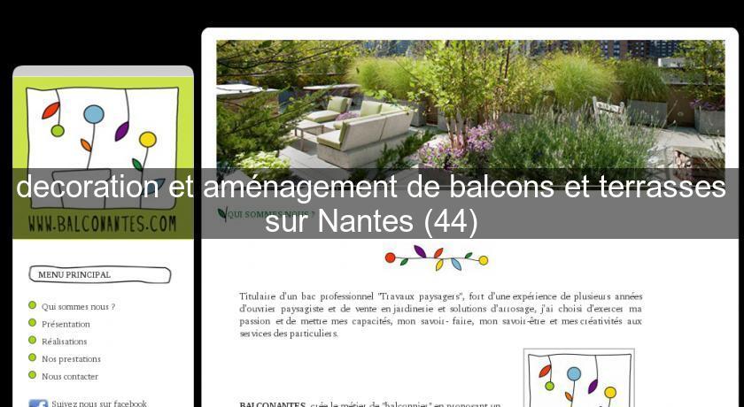 Decoration Et Amenagement De Balcons Et Terrasses Sur Nantes