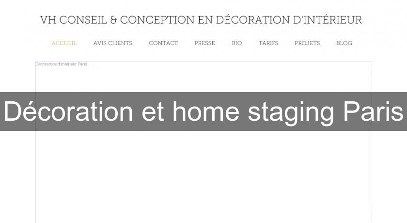 Décoration et home staging Paris