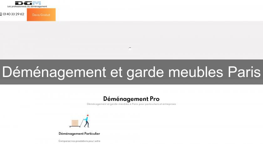 D m nagement et garde meubles paris demenagement for Location garde meuble paris