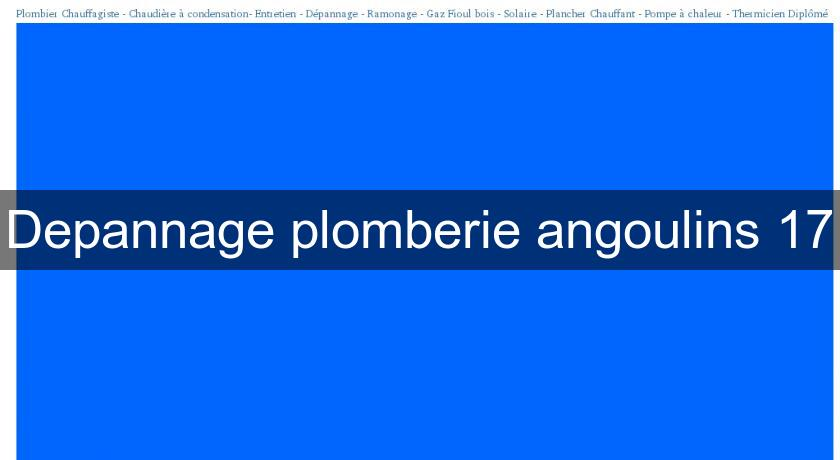 Depannage plomberie angoulins 17