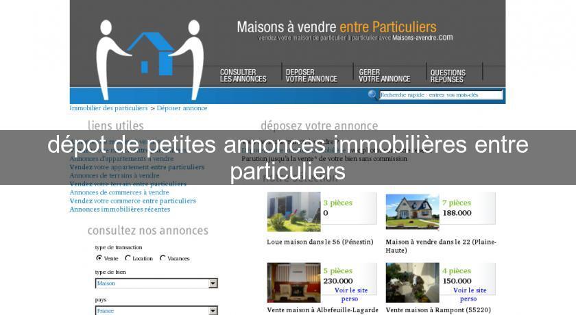 Depot De Petites Annonces Immobilieres Entre Particuliers Annonces