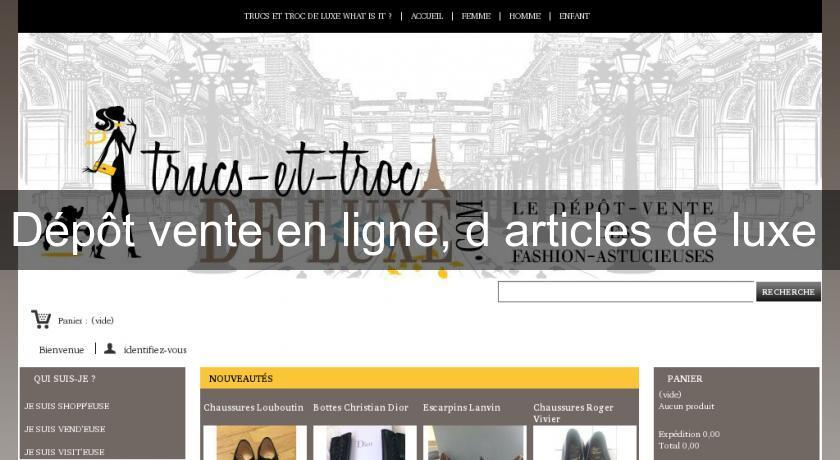 8730b4d437b Site   Dépôt Vente En Ligne