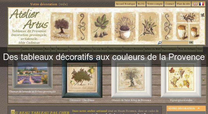 des tableaux d coratifs aux couleurs de la provence. Black Bedroom Furniture Sets. Home Design Ideas