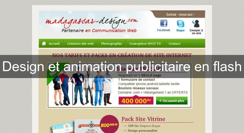 Design et animation publicitaire en flash