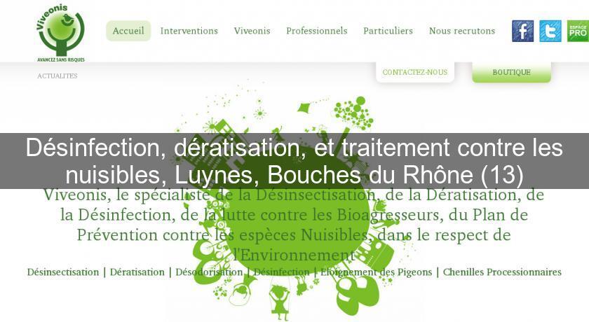 D sinfection d ratisation et traitement contre les nuisibles luynes bouches du rh ne 13 - Traitement contre les cochenilles ...