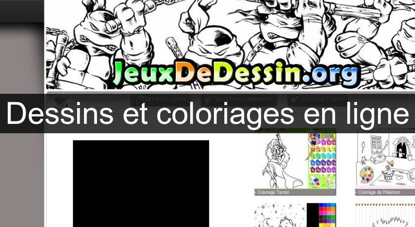 Dessins Et Coloriages En Ligne Jeux Sur Internet