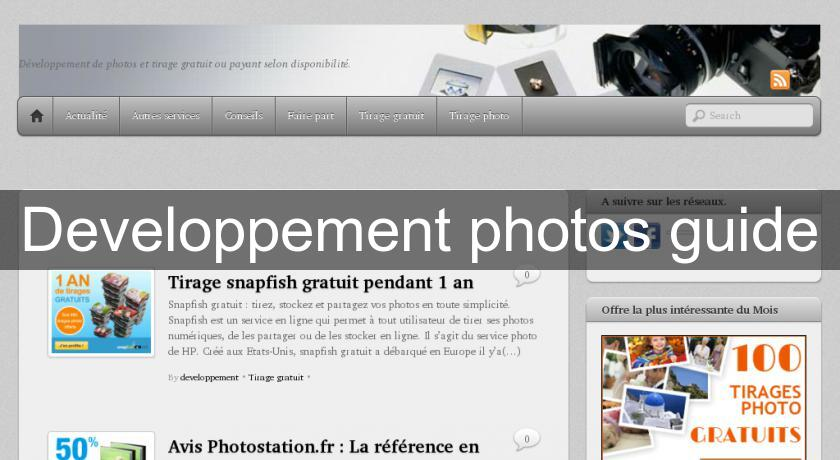 Developpement photos guide