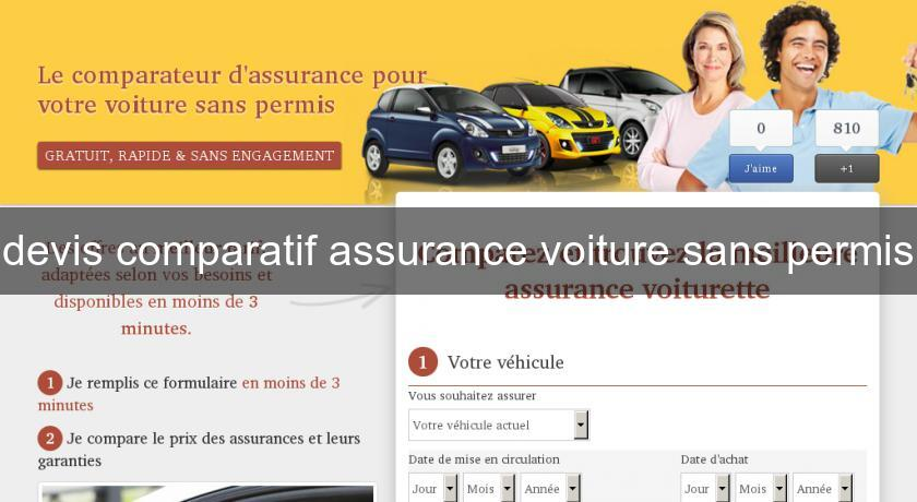 devis comparatif assurance voiture sans permis assurance auto. Black Bedroom Furniture Sets. Home Design Ideas