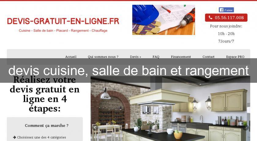 Devis Cuisine Salle De Bain Et Rangement Cuisine Equipee