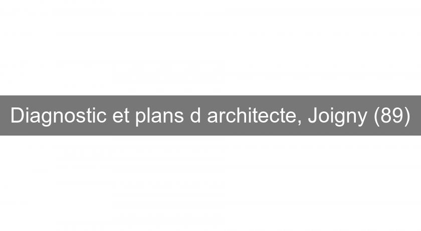 Diagnostic et plans d'architecte, Joigny (89)