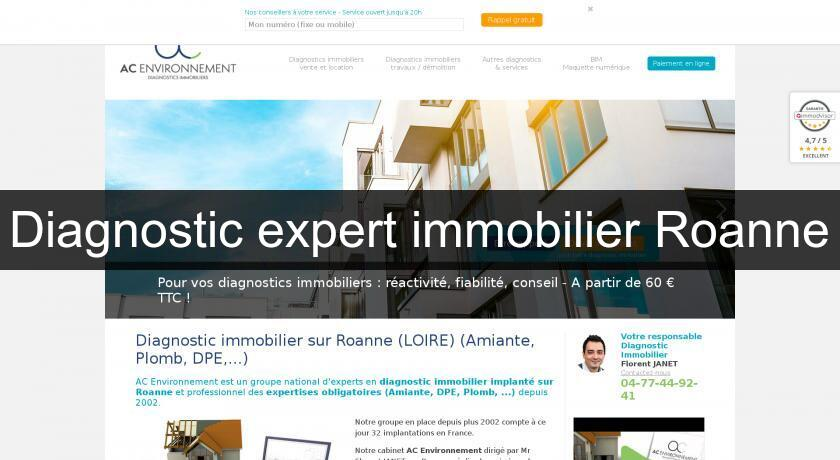 Diagnostic expert immobilier Roanne