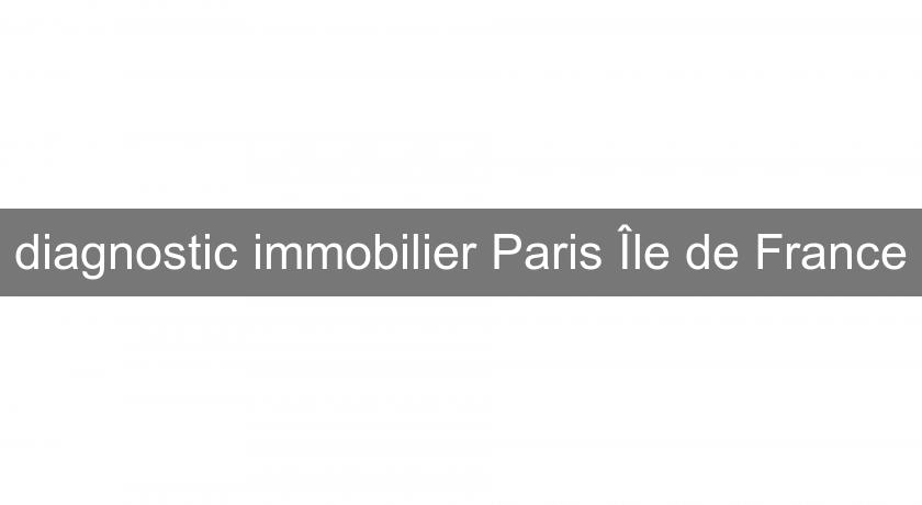 diagnostic immobilier Paris Île de France