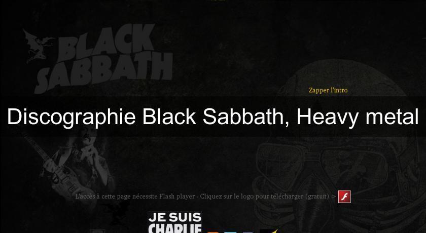 DISCOGRAPHIE SABBATH TÉLÉCHARGER BLACK
