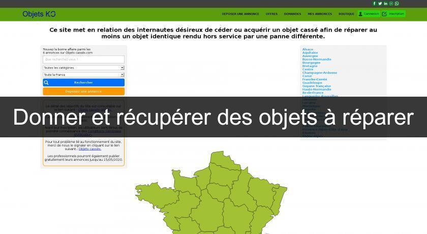 Donner Et Recuperer Des Objets A Reparer Bons Plans
