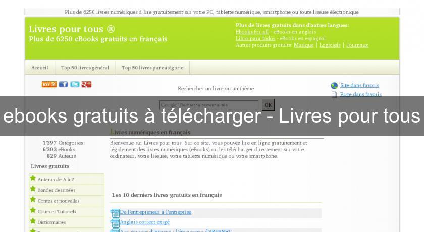 Ebooks Gratuits A Telecharger Livres Pour Tous Bibliotheque