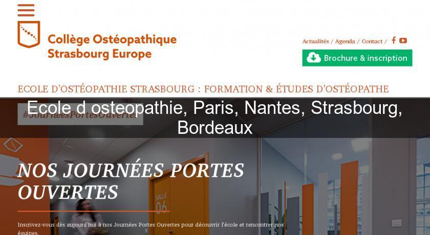 ecole d 39 osteopathie paris nantes strasbourg bordeaux formation professionnelle. Black Bedroom Furniture Sets. Home Design Ideas