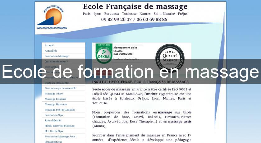 Ecole de formation en massage
