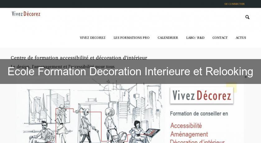 ecole formation decoration interieure et relooking formation professionnelle