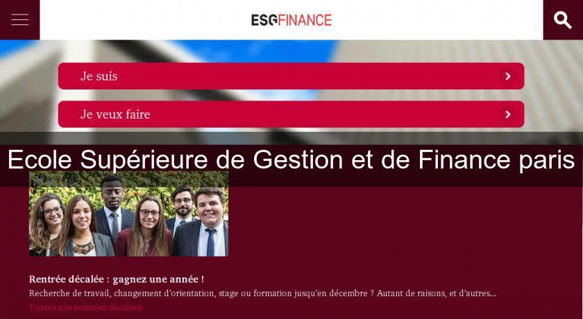 Ecole sup rieure de gestion et de finance paris ecole - Ecole superieure de cuisine francaise ...