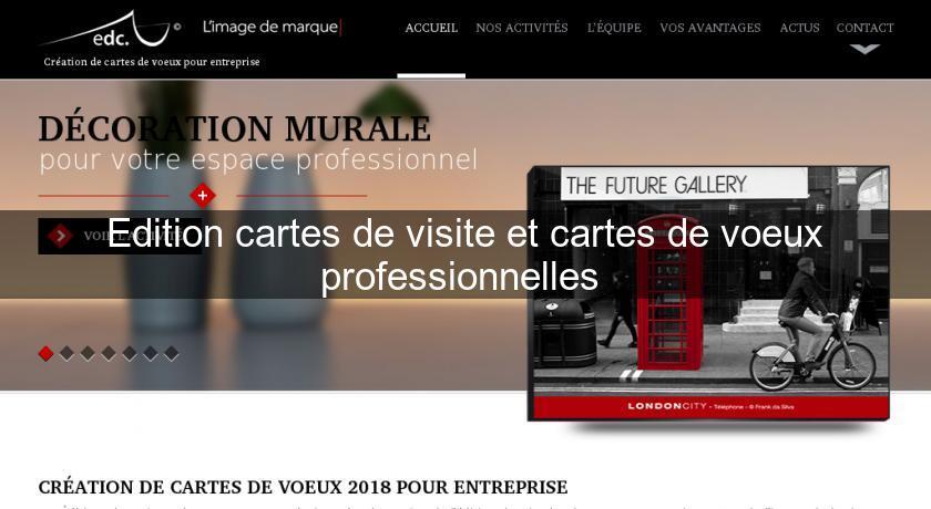 Edition Cartes De Visite Et Voeux Professionnelles Papeterie