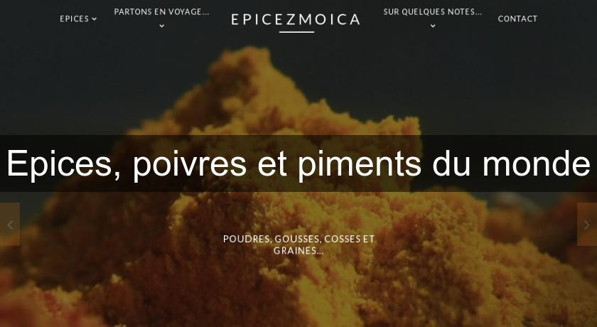 Epices, poivres et piments du monde Produits Terroir