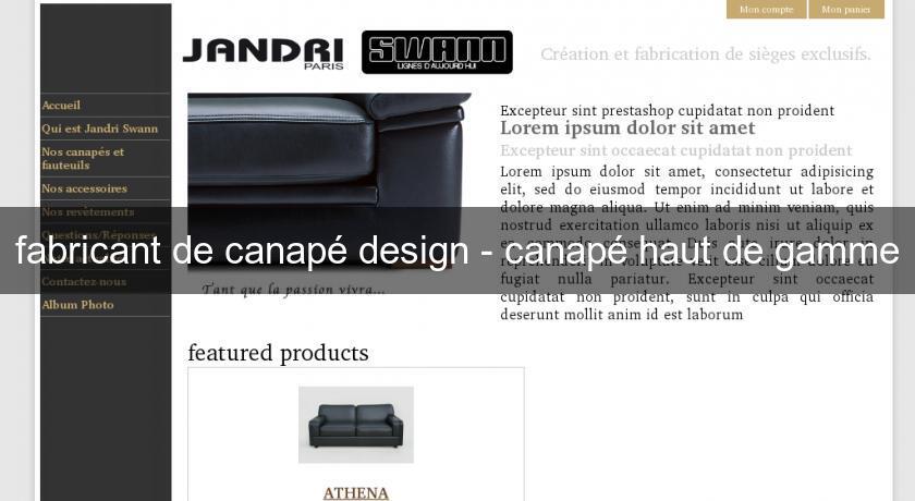 Fabricant De Canapé Design Canapé Haut De Gamme Canapé - Site canapé design