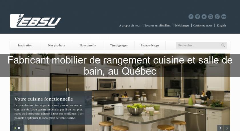 Fabricant mobilier de rangement cuisine et salle de bain for Fabricant de cuisine en france