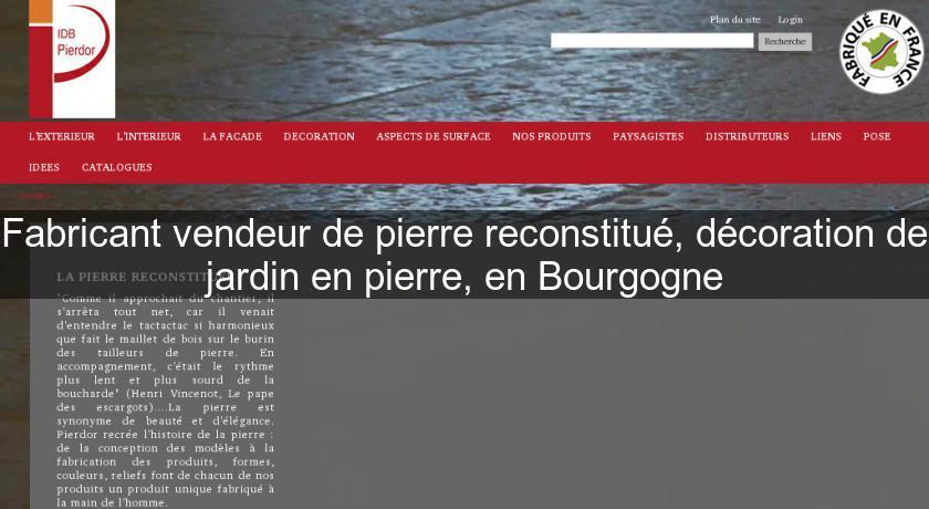 Fabricant Vendeur De Pierre Reconstitué Décoration De Jardin En