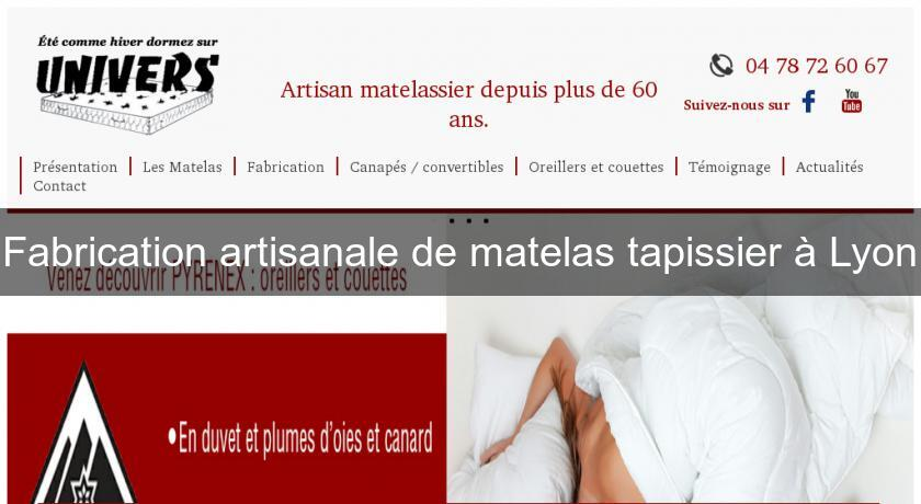 fabrication artisanale de matelas tapissier lyon tapisserie. Black Bedroom Furniture Sets. Home Design Ideas