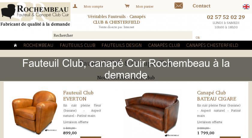 canap cuir club great fauteuil design club nettuno. Black Bedroom Furniture Sets. Home Design Ideas